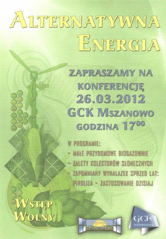 Konferencja na temat alternetywnej energii