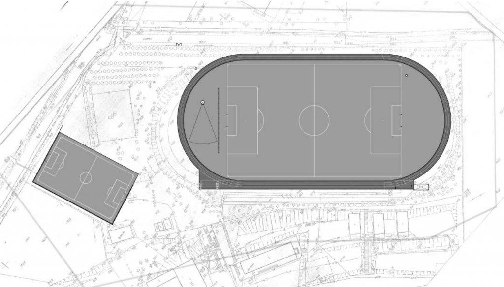 Remont i przebudowa stadionu sportowego w Rybnie