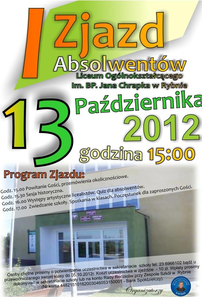 I Zjazd Absolwentów LO w Rybnie