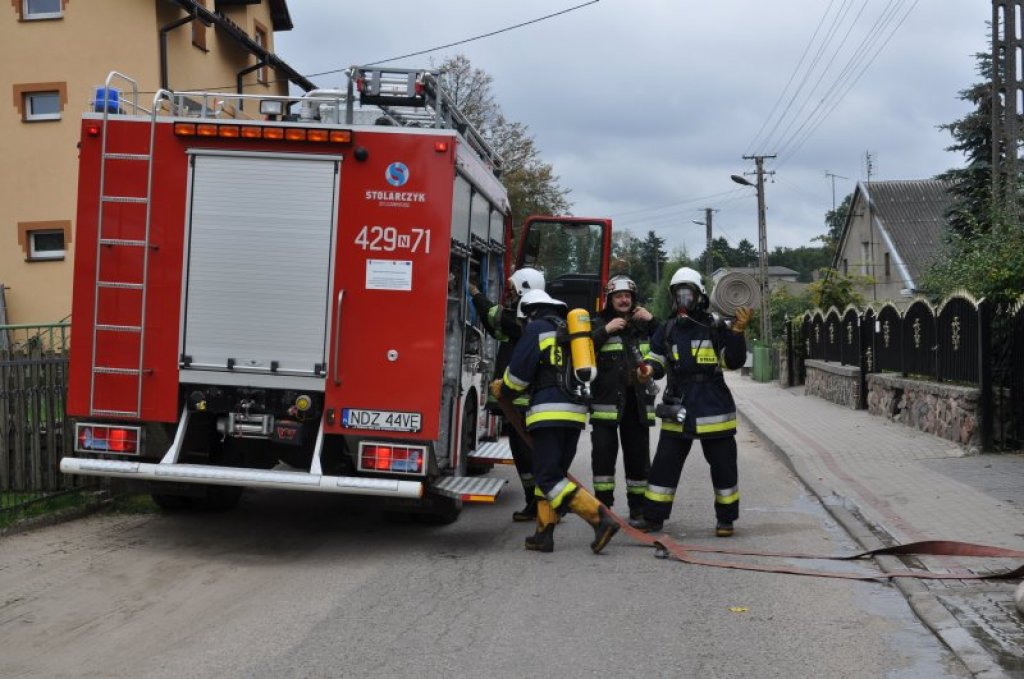 Ćwiczenia zgrywające OSP w Hartowcu