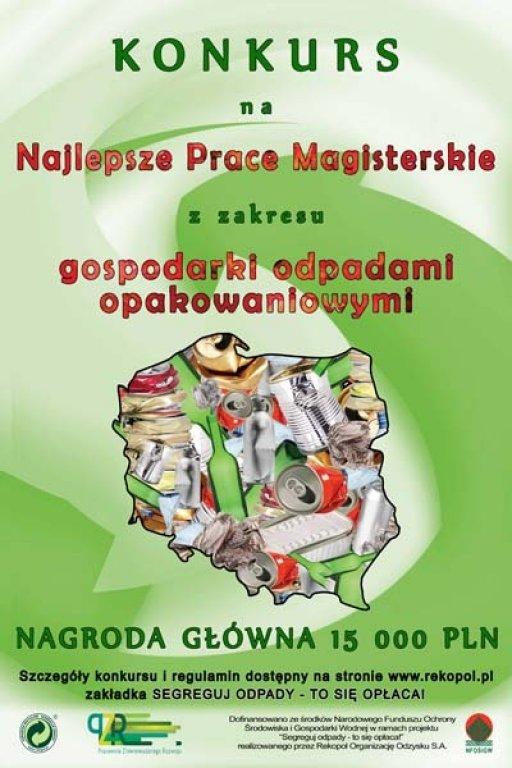 Konkurs na prace magisterskie z zakresu Gospodarki Odpadami Opakowaniowymi