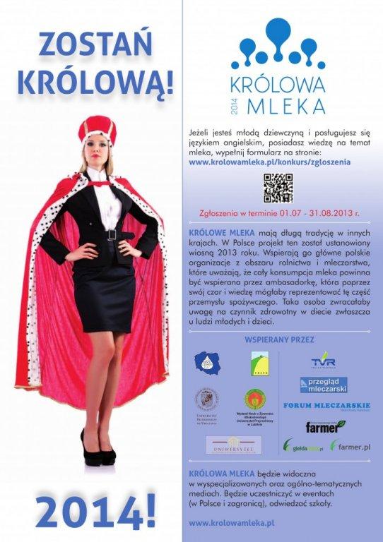 Konkurs 'Królowa Polskiego Mleka'