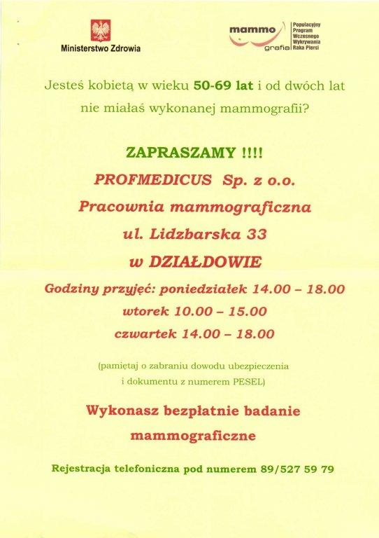 Nowa pracownia mammograficzna w Działdowie