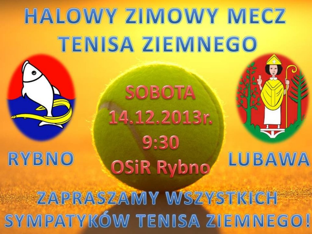 Mecz tenisa ziemnego Rybno - Lubawa