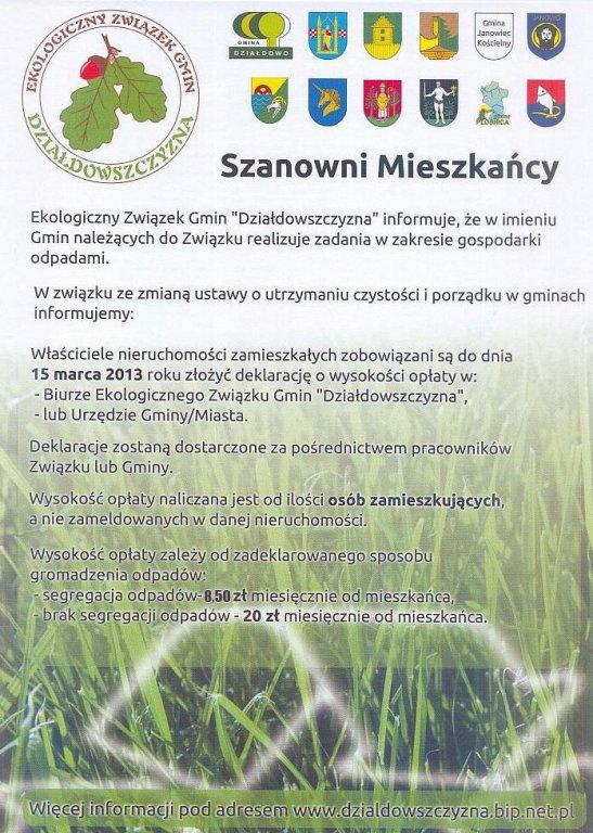 Informacja EZG 'Działdowszczyzna'