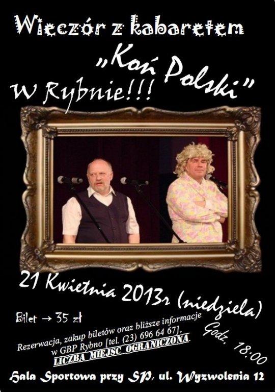Wieczór z kabaretem KOŃ POLSKI