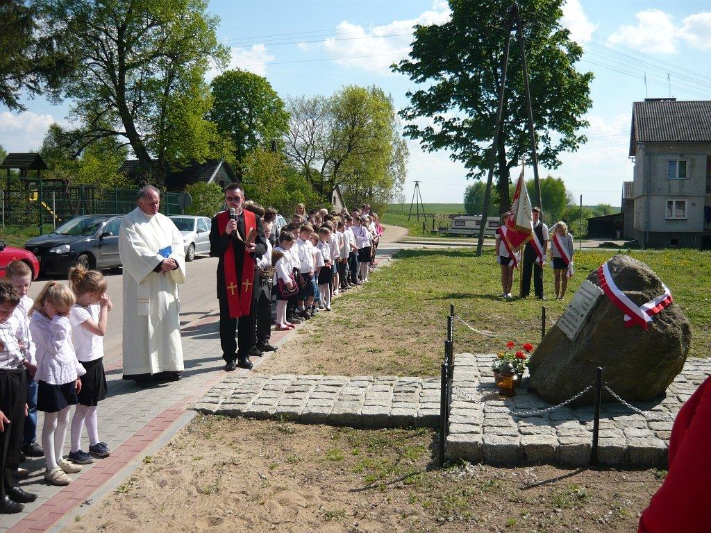 Poświęcenie tablicy pamiątkowej na Cmentarzu Ewangelickim w Koszelewach