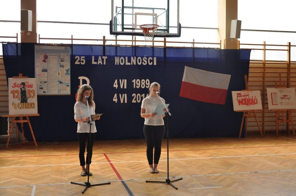 Lekcja wolności w Zespole Szkół w Rybnie