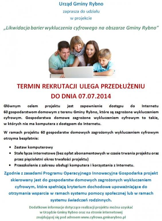 Przedłużony termin rekrutacji do projektu POIG