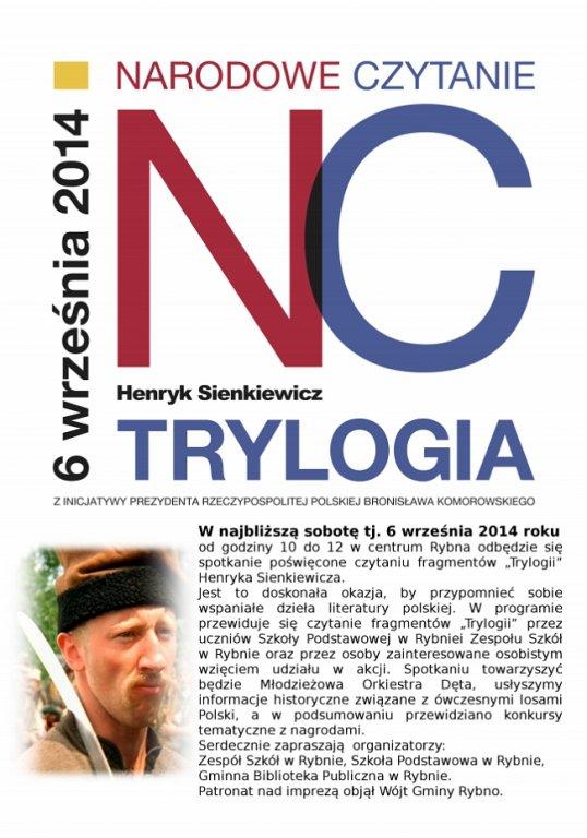 Narodowe czytanie trylogii Sienkiewicza