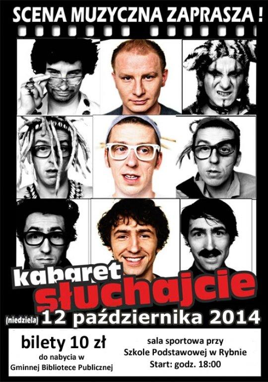 Kabaret Słuchajcie wystąpi w Rybnie