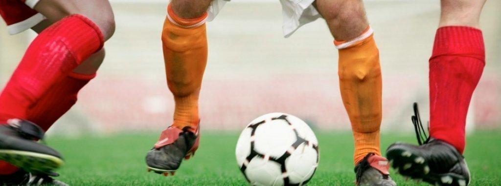 Mecz piłki nożnej Rybno-Biskupiec
