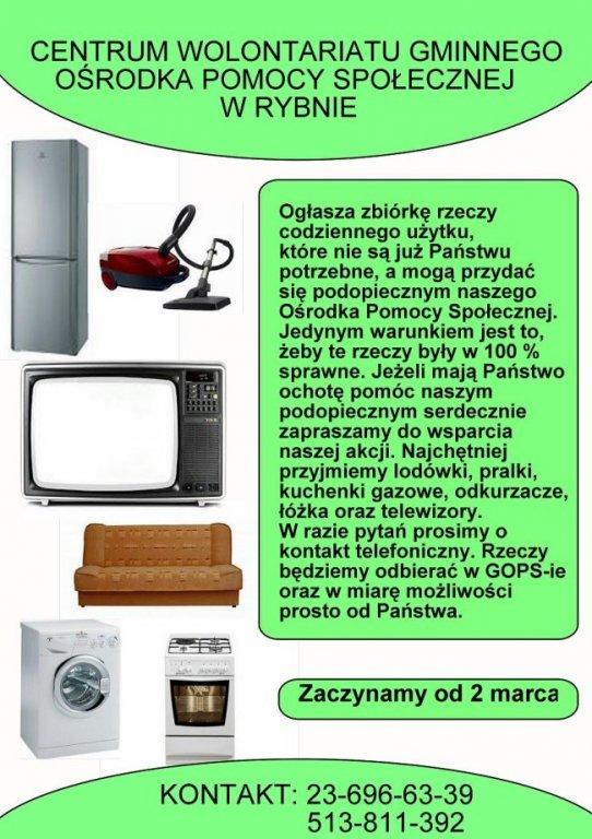Zbiórka przedmiotów codziennego użytku