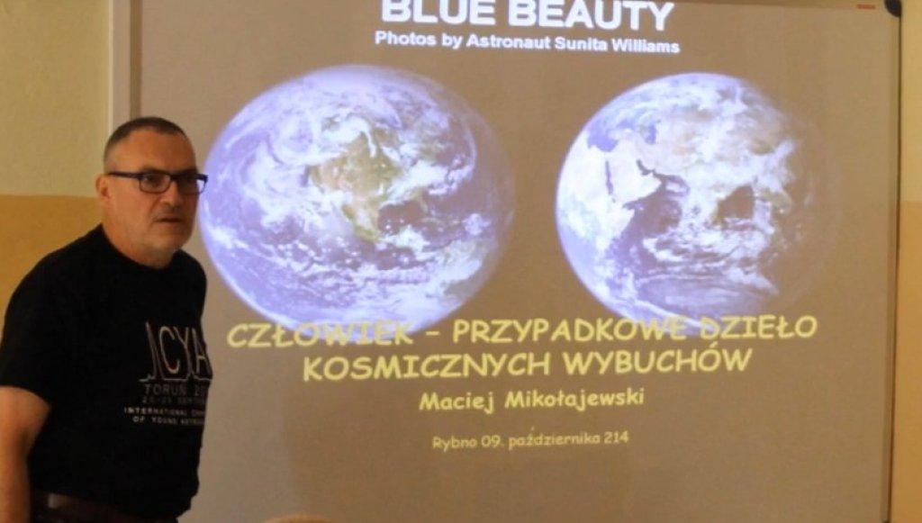 Moja przygoda z astronomią - film uczniów ZS w Rybnie