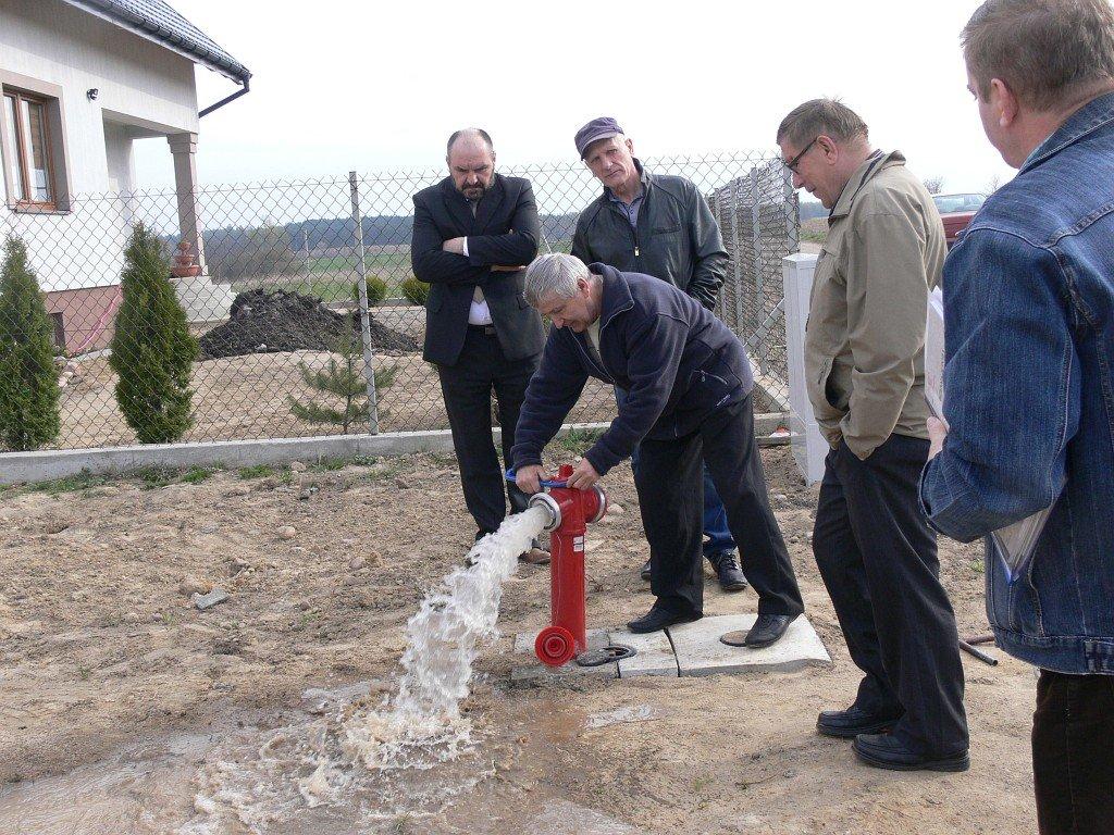 Odbiór sieci wodociągowej Rybno Kolonia