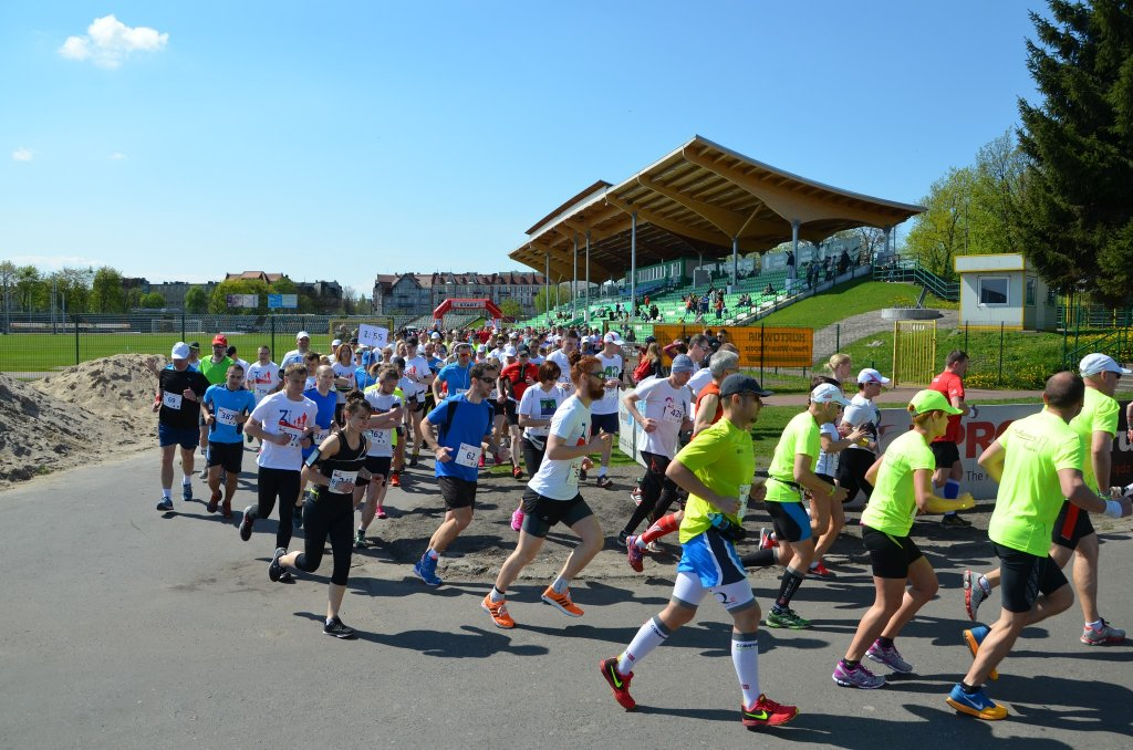 Biegacze z gminy Rybno na półmaratonie w Grudziądzu