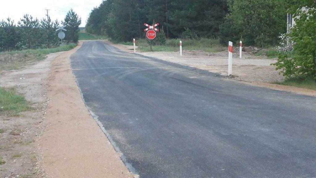 Przebudowa drogi gminnej w Rapatach zakończona