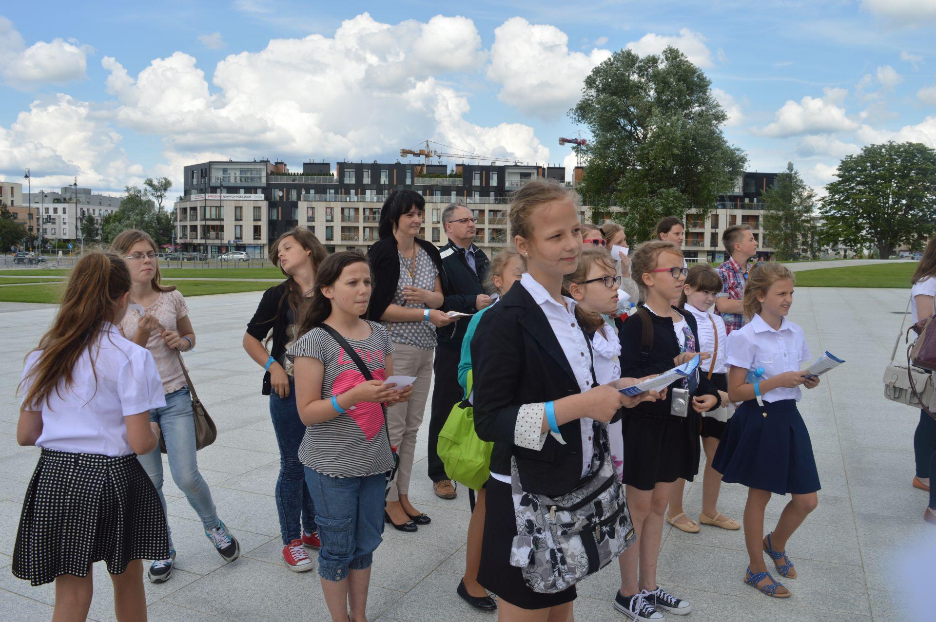 Szkoła z Rumiana na urodzinach swojego patrona w Warszawie