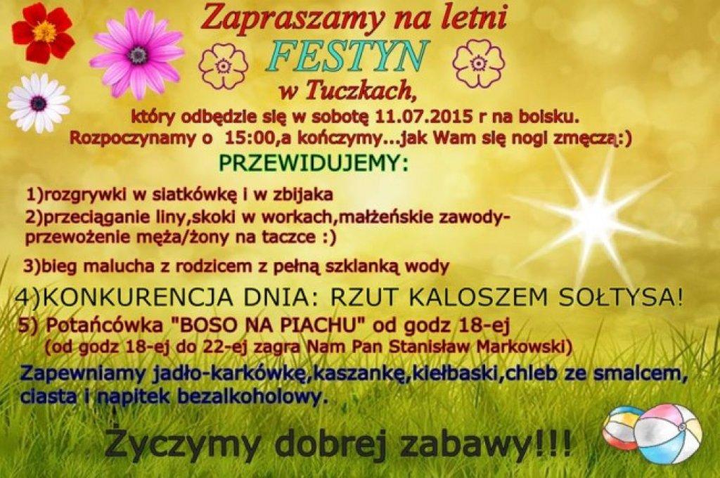 Zaproszenie na festyn w Tuczkach