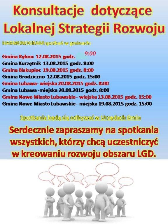 Konsultacja dotyczące Lokalnej Strategii Rozwoju