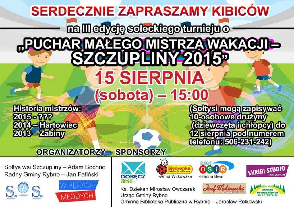 Puchar Małego Mistrza Wakacji - Szczupliny 2015