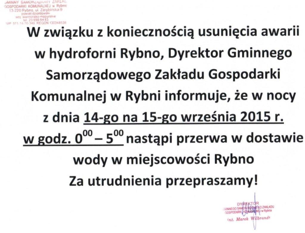Ogłoszenie Dyrektora GSZGK