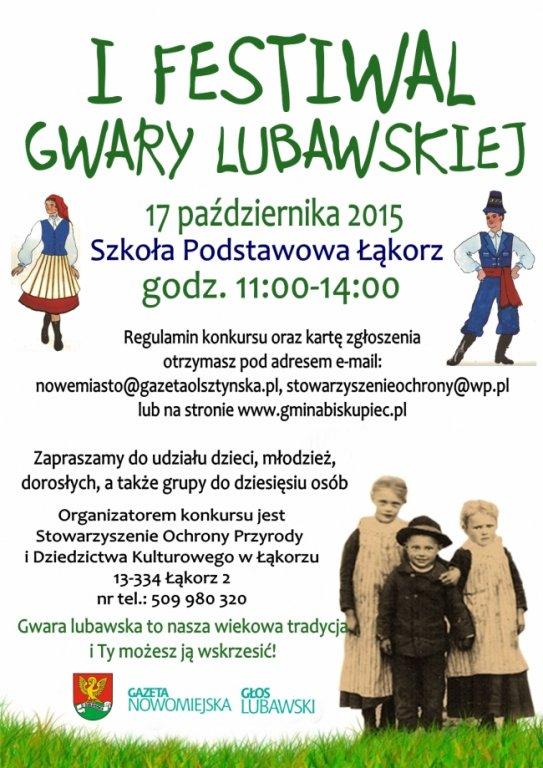 I Festiwal Gwary Lubawskiej