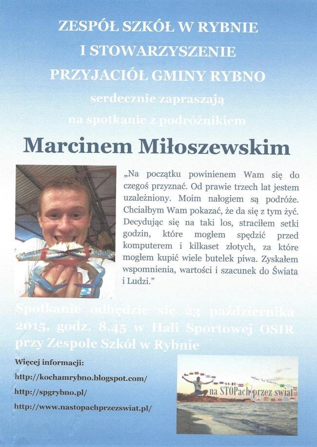Spotkanie z Marcinem Miłoszewskim