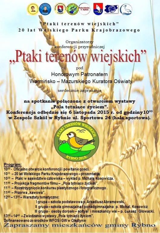 Ptaki terenów wiejskich - konferencja w Zespole Szkół