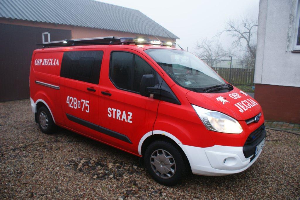 Nowy wóz dla strażaków z Jeglii
