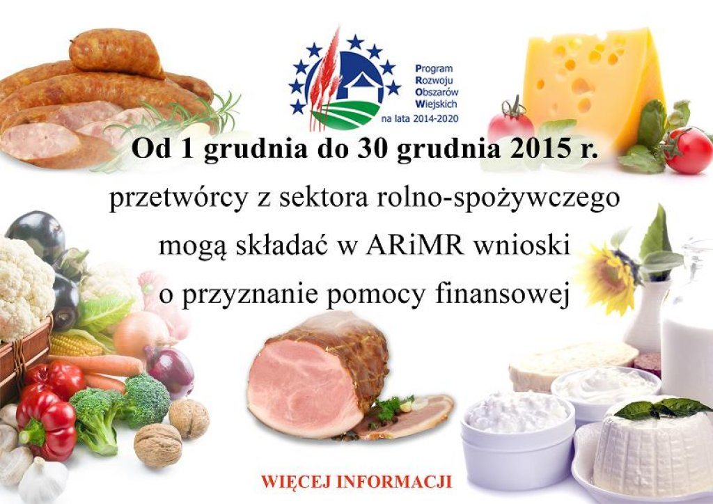 Pomoc dla przetwórców z sektora rolno-spożywczego