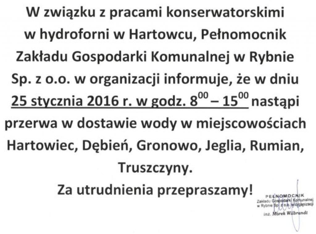 Ogłoszenie Zakładu Gospodarki Komunalnej