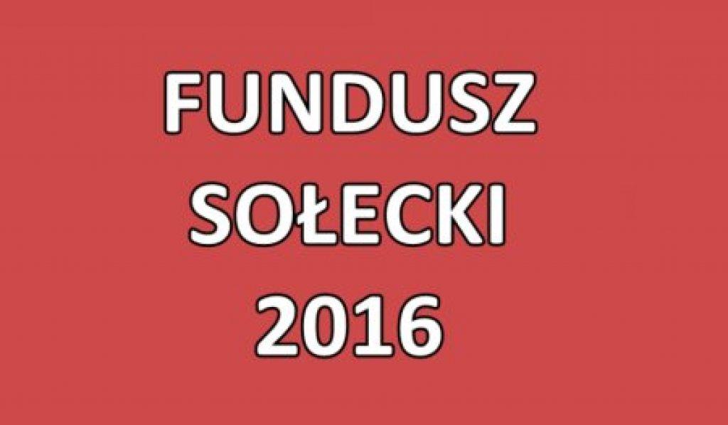 Fundusz sołecki 2016