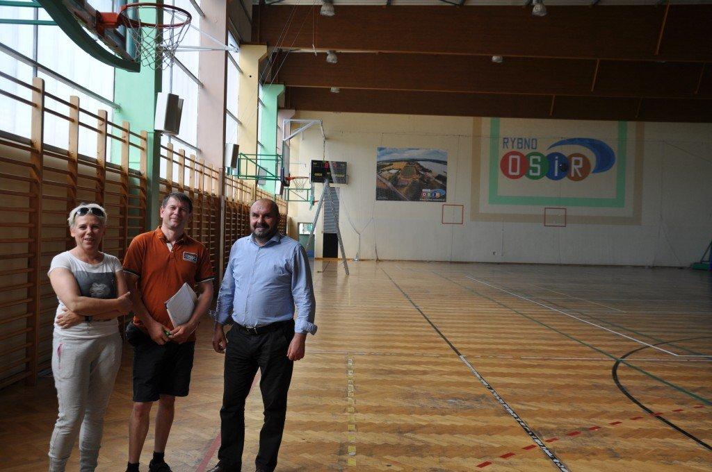 Renowacja parkietu w hali OSiR
