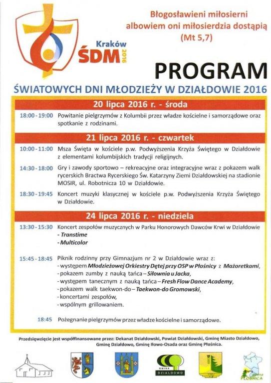 Program ŚDM w Działdowie