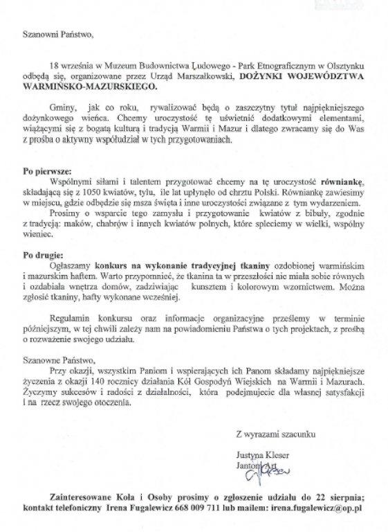 Dożynki Województwa Warmińsko-Mazurskiego 2016