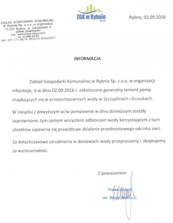 Zakończono remont pomp w Groszkach i Szczuplinach