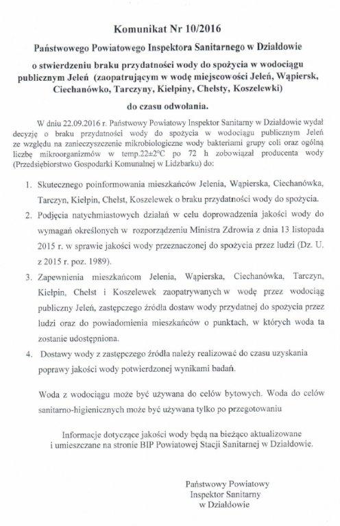 UWAGA! Woda w miejscowości Koszelewki nie nadaje się do spożycia
