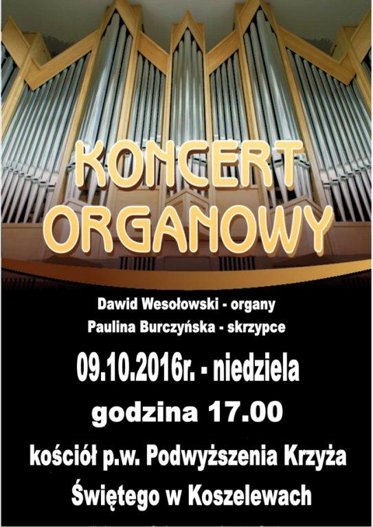 Zapraszamy na koncert organowy