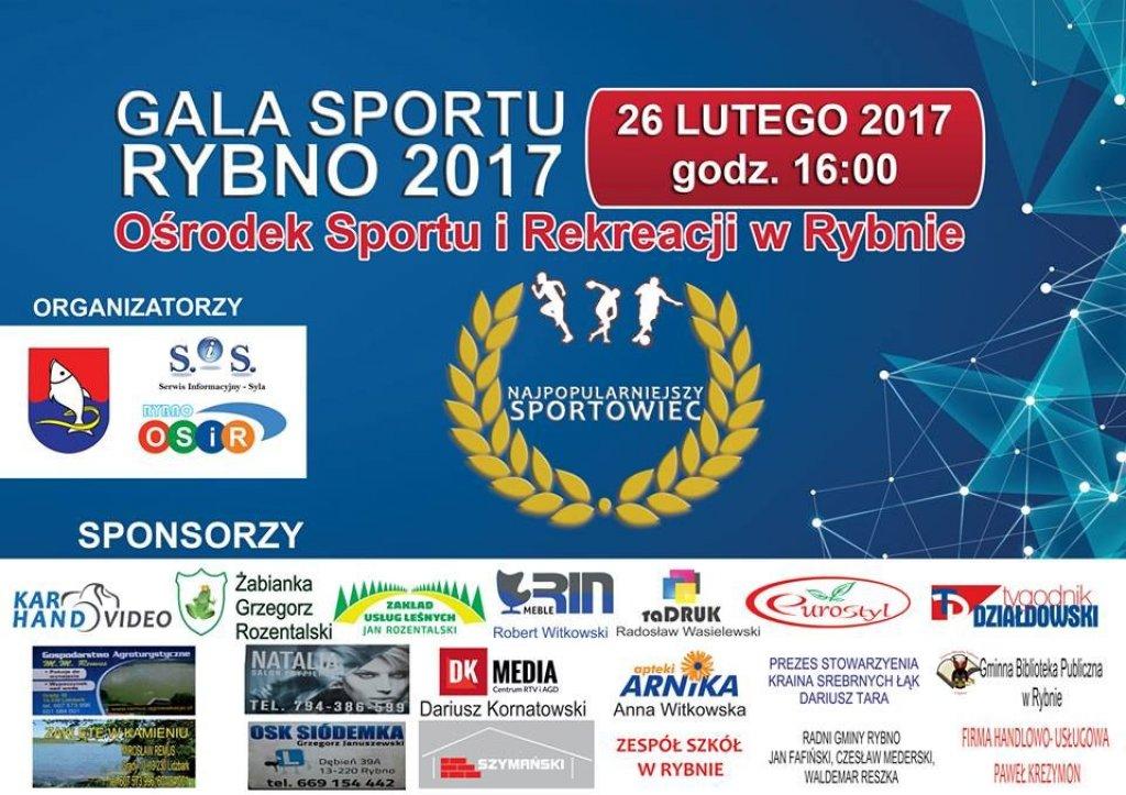 Zapraszamy na Galę Sportu Rybno 2017