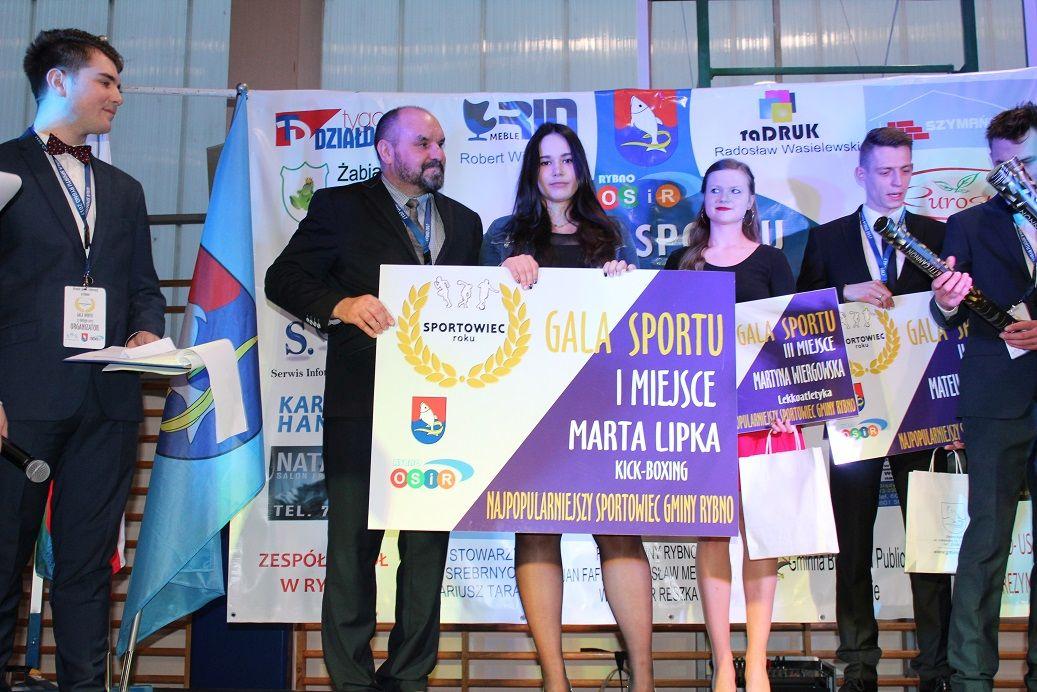 Marta Lipka z tytułem Najpopularniejszego Sportowca
