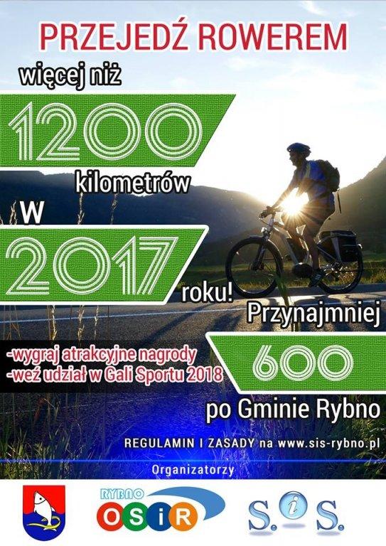 Zapraszamy do rywalizacji '1200 km rowerem w 2017 roku'
