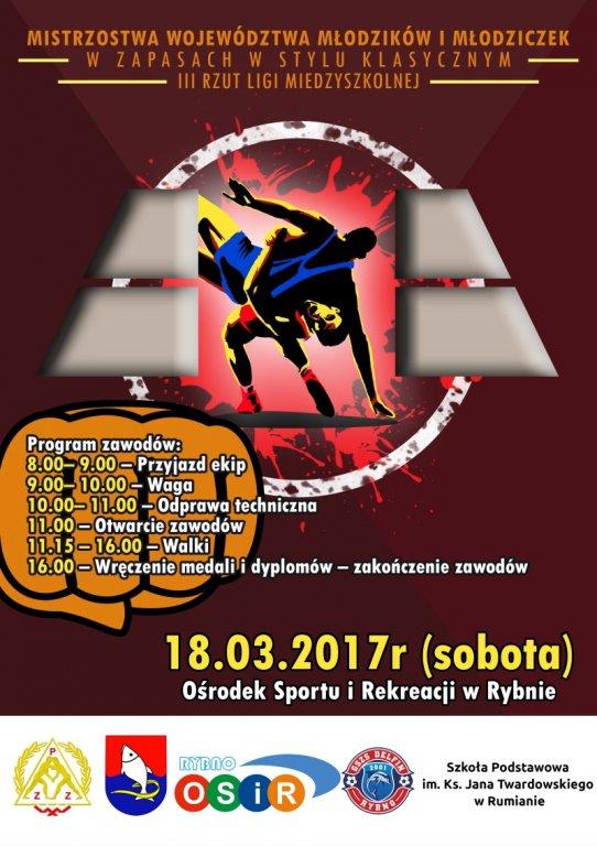 Mistrzostwa Województwa Młodzików i Młodziczek w Zapasach