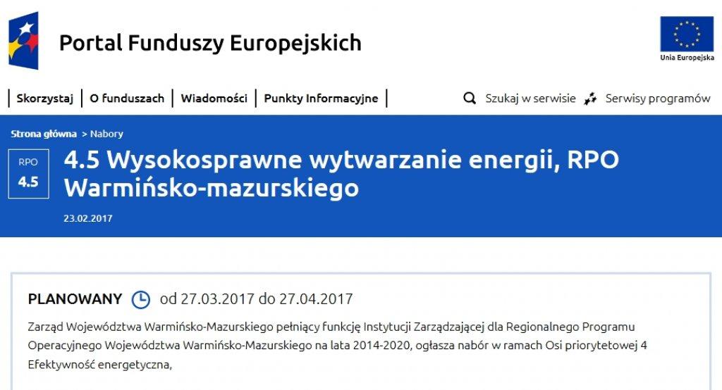 Efektywność energetyczna - zbliża się nabór wniosków