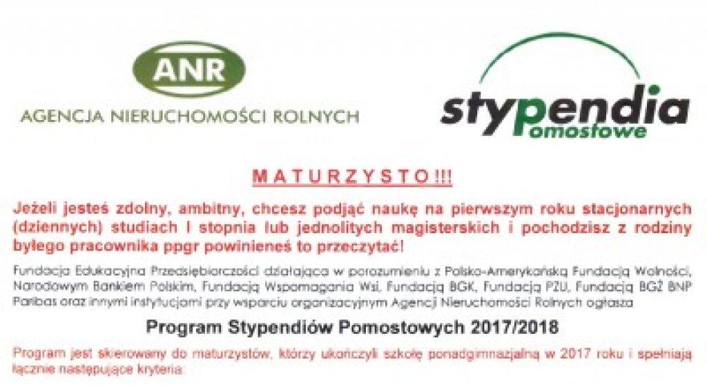 Program Stypendiów Pomostowych 2017/2018