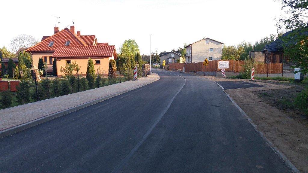 Ulica Leśna w przebudowie