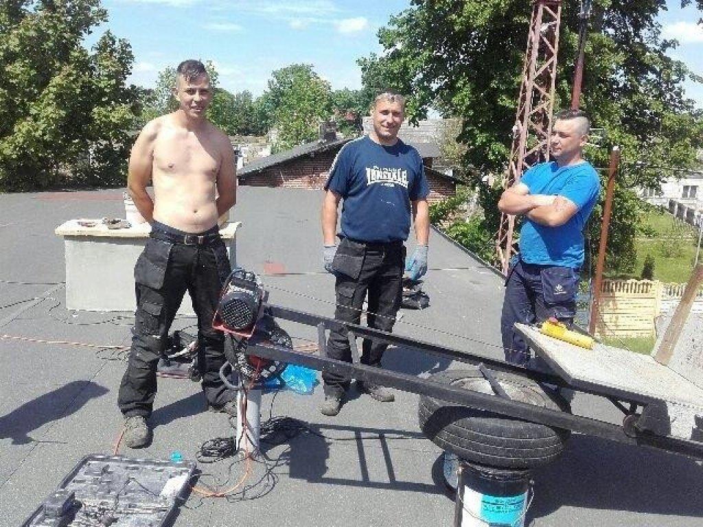 Kolejny dach w gminie Rybno będzie naprawiony