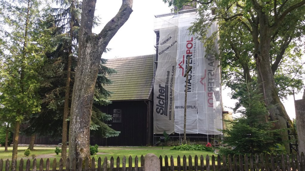 Rozpoczął się remont dachu kościoła w Rumianie
