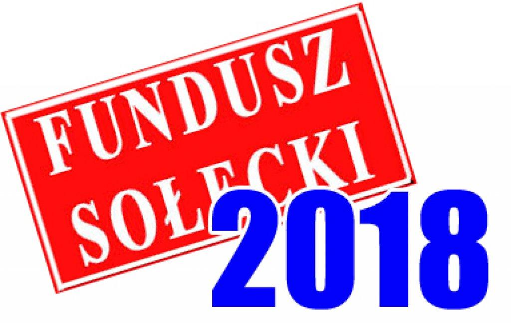 Fundusz Sołecki na rok 2018