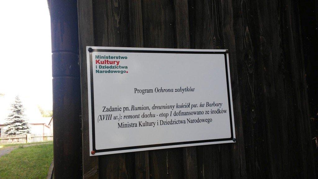 Remont Kościoła Św. Barbary w Rumianie